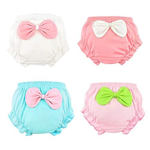 c1c4975b3eb Shorts – Beide Baby Girls Cotton Ruffle Bowknot Shorts 4-Pack (2-3T