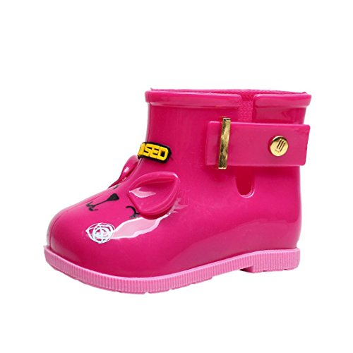 Hot Pink, 1.5-2.5 years old Dreamyth Waterproof Child Rubber Boots Infant Baby Rain Boots Kids Children Rain Shoes