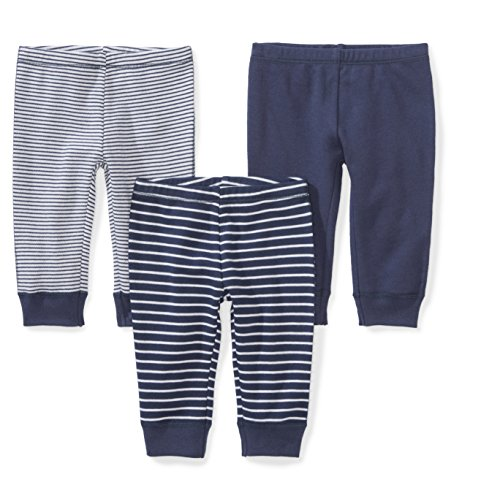 10c9b89c5 Pants – Moon and Back Baby Set of 3 Organic Pants, Navy Sea, 0-3 Months  Offers