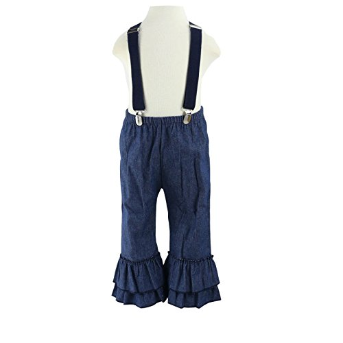 df3c46a658a Pants – Wennikids Toddler Baby Girls Jeans Ruffle Denim Pants with Suspender  for 6M-6T 3T Navy Blue
